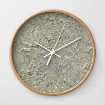 Rough Plastering Wall Clock by Alexandr-Az
