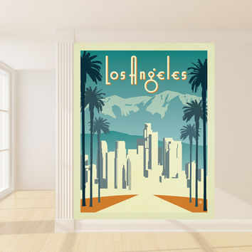 Anderson Design Group's Los Angeles Mural wall decal