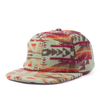 Pendleton Wool Jiberish 6 Panel Unstructured Strapback Green