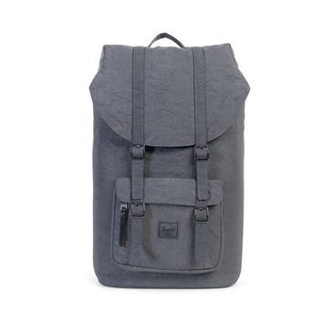 HERSCHEL SUPPLY CO LITTLE AMERICA BACKPACK DARK SHADOW WRINKLED NYLON