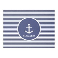 Custom Name Anchor Fleece Blanket