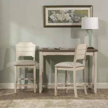 Clarion Three (3) Piece Counter Height Side Dining Set With Open Back Stools -Hillsdale