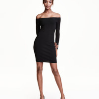 H&M Ribbed Off-the-shoulder Dress $49.99