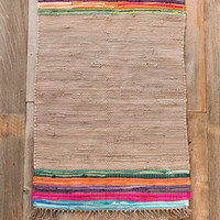 Khaki Chindi Accent Rug