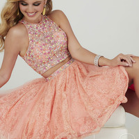 Hannah S 27015 Stylish Lace Two Piece Cocktail Dress