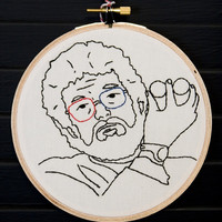 Dr Jacoby Twin Peaks Hand Embroidered Wall Art by AllNightDiner