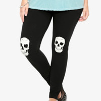Leggings with Skull Knee
