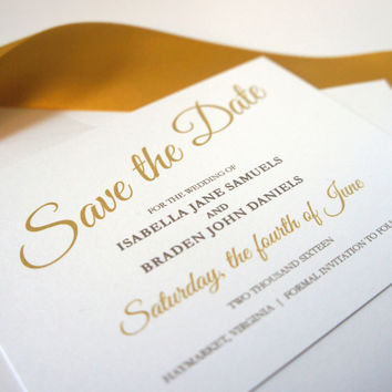 Gold Save the Date Card - DEPOSIT