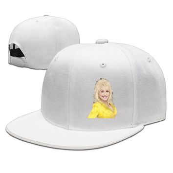 Dolly Parton Logo Yellow Gown Breathable Unisex Adult Womens Hip-hop Hats Mens Hip-hop Caps
