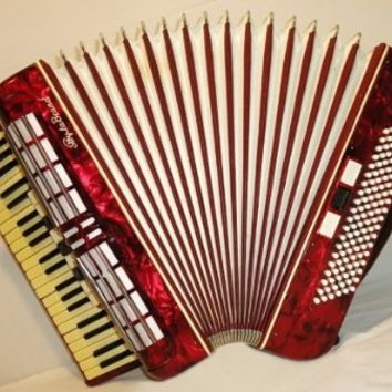 Sibyla Brand 120 Bass, 12 switches. Used Rare German Piano Button Accordion