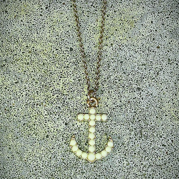 NECKLACE Sail Boat Ship Ocean gold tone Nautical ANCHOR charm pendant link curb adjustable chain men women fashion jewelry