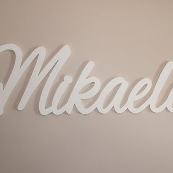 children's name sign Baby Name Plaque Large PAINTED Personalized nursery name baby wall hanging nursery decor wooden wall art, above a crib