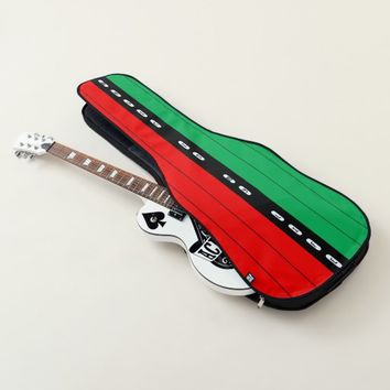 Kwanza Candle Colors Striped Pattern Add Text Guitar Case