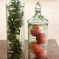 Hammered Glass Canister with Finial Lid- Small