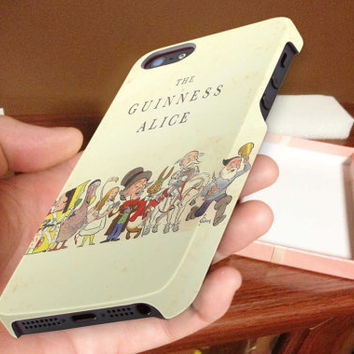 vintage, the guiness of alice 3D iPhone Cases for iPhone 4,iPhone 4s,iPhone 5,iPhone 5s,iPhone 5c,Samsung Galaxy s3,samsung Galaxy s4