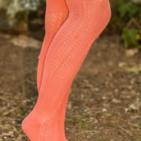 Brisk Nights Boot Socks-Coral