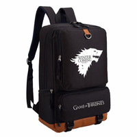 Game of Thrones Ice and Fire backpack for teenagers Men women's Student School Bags travel Shoulder Bag Laptop Bags book bag