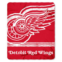 Detroit Red Wings NHL Light Weight Fleece Blanket (Fadeaway Series) (50inx60in)