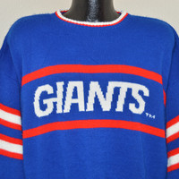 90s New York Giants Striped Acrylic Sweater Extra Large