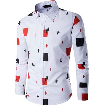 New Men Formal Business Casual Long Sleeve Shirts