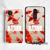 LG google plastic back cover, life quote typo phone case for LG G2, Nexus 4, Nexus 5, red paper cranes, E39