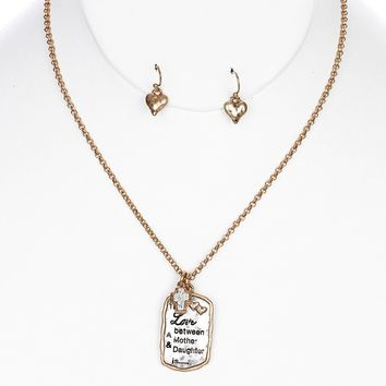 Mother Daughter Charm Necklace Set