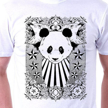 Mens Bear T shirt | Mens Bear Shirt | Mens Band T shirt | Cool Shirts |  Mens Animal Print Tee | Mens Graphic T shirt | Mens Panda Bear Tee