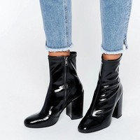 Steve Madden Goldie Sock Heeled Ankle Boots at asos.com