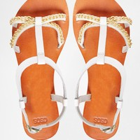 ASOS | ASOS FIGHT FOR YOUR LIFE Leather Sandals at ASOS