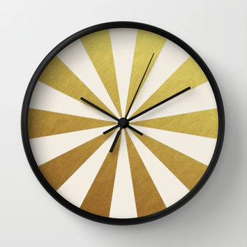 gold starburst Wall Clock by Her Art