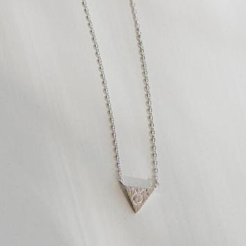 Zodiac Charm Necklace In Silver - Taurus