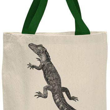 Austin Ink Apparel American Alligator Contrast Cotton Canvas Tote Bag