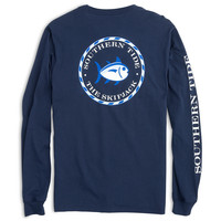 Women's Long Sleeve Skipjack Seal Tee in Nautical Navy by Southern Tide