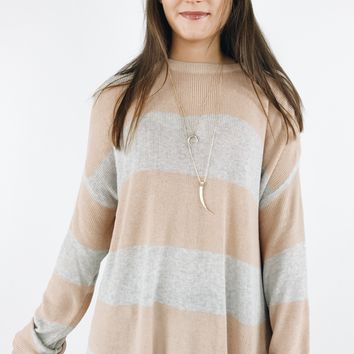 Cuddle Me Up Sweater - Rose