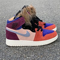 "Aleali May x Air Jordan 1 ""Viotech"" BV2613-600 Size 36---39"