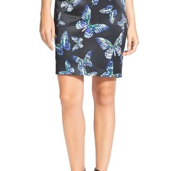 Women's CeCe by Cynthia Steffe 'Floating Butterflies' Pencil Skirt,