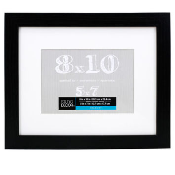 Studio Décor® Belmont Frame With Mat, Black