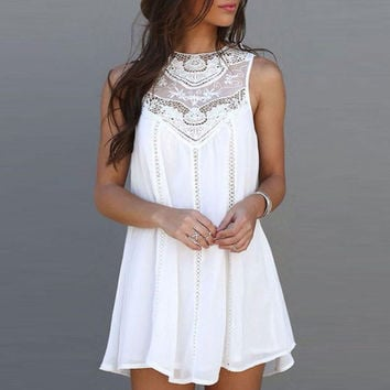 SummeR Loose Sexy Charming Sleeveless Lace Dress