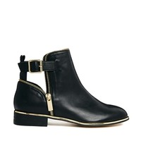 River Island Pio Black Zip Detailed Ankle Boot s