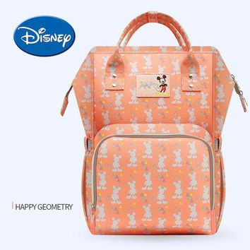 Toddler Backpack class Disney USB Heat Preservation Diaper Bag Water-proof Toddler Mommy Diaper Backpack Cartoon Micky Travel Bag AT_50_3