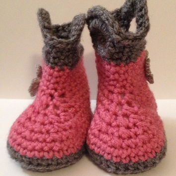 Perfect Baby Shower Gift Handmade Boots - Sizes 6 to12 months - Any Color Combo