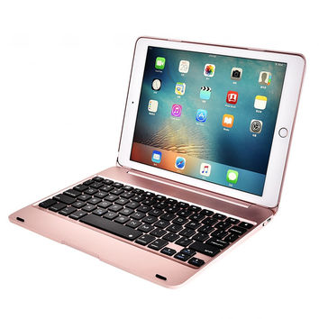 NEW ABS plastic alloy Metel Ultra thin Keyboard with Stand For Apple iPad 6 ipad air 2 9.7 inch keyboard Cover case