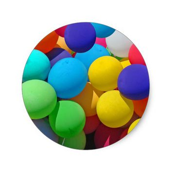 Balloons Classic Round Sticker