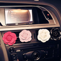 Car Camellia Flower Air Outlet Perfume Clip Freshener Diffuser Ornament Automobile air conditioning decoration export perfume