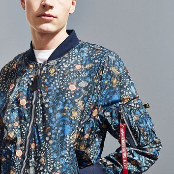 Alpha Industries X Liberty London Bomber Jacket | Urban Outfitters