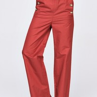 Wide leg pants with buttons