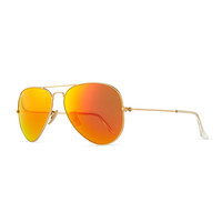 Aviator Sunglasses with Flash Lenses, Gold/Red Mirror - Ray-Ban