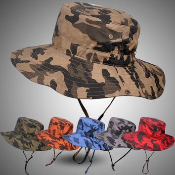 Pluz Size Bucket Hat For Men Big Head Male Summer Outdoors Fishing Hat Women Camouflage Sunscreen Fisherman Sun Hat 59 63cm
