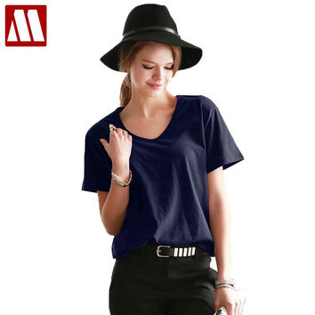 Tops Tees 4XL 2017 summer style Ladies casual under shirt womens t-shirt roupas femininas short sleeve tshirt t shirts for women