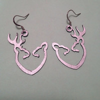 browning buck and doe heart earrings by SouthernnShimmer on Etsy